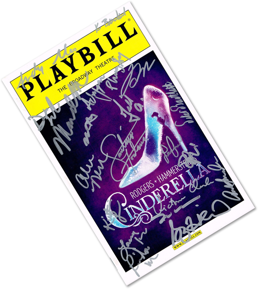 Autographed playbill